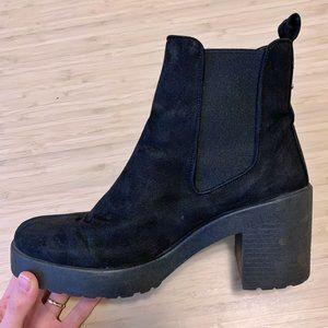 3/$60 Topshop Faux Suede Lug Sole Boots